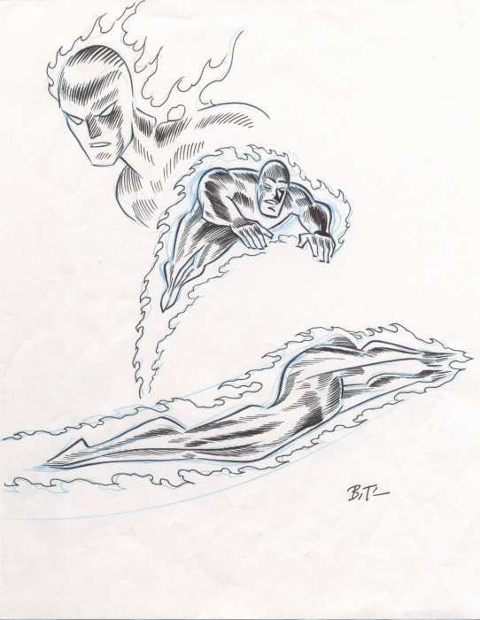 the human torch coloring pages - photo#26
